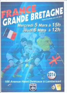 France vs Angleterre hockey sur gazon